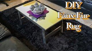 13. QUICKEST DIY: FAUX FUR AREA RUG [WALMART HACK] [NO SEW]