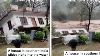 House Falls Into Flood #Shorts