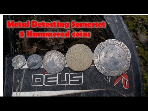 Metal Detecting Somerset 5 hammered coins with XP Deus