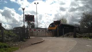 preview picture of video 'HST Passing Stoke Canon Crossing'