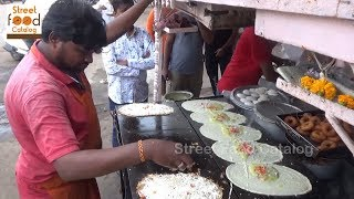 Big Size Paneer Masala Dosa @ 35 rs  Only   Egg Dosa / Butter Dosa   Hyderabad street food
