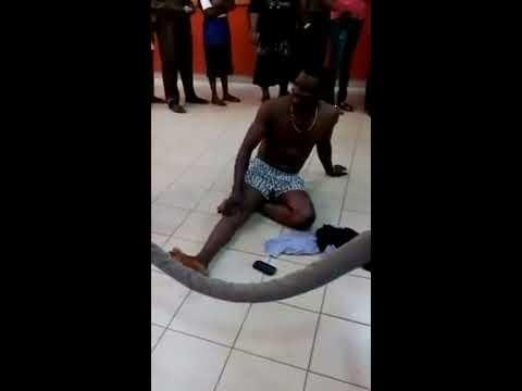 Yoruba Brave man naked in Bank