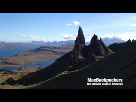 Neil showing off the Old Man of Storr