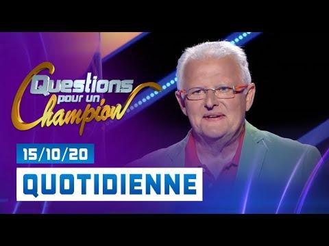 Emission du Jeudi 15 Octobre 2020 - Questions pour un champion