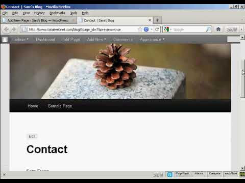 Video 6 – How to Create New Pages