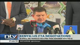 Kenya is hoping that negotiations with the United States of America
