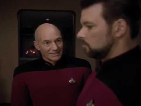 This is one of the great character scenes from Star Trek TNG: Riker is confronted by Picard about The Pegasus