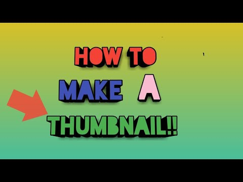 How to make a thumbnail on mobile!!