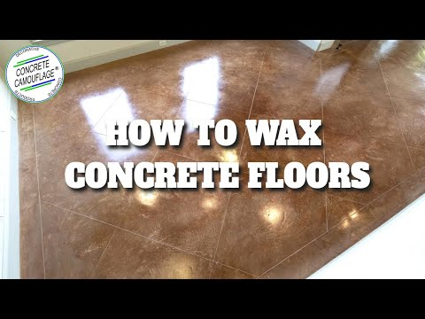 Concrete Staining Guide - 7. How to Wax Concrete Floors