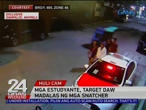 [GMA]  24 Oras: Mga nambugbog, sinagasaan ng tricyle na kasabwat ng snatcher