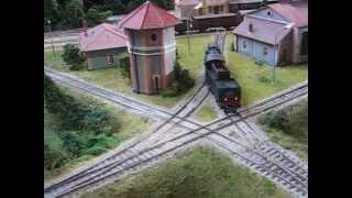 preview picture of video 'Gleisfünfeck von Mals (Vinschgau) als H0-Modell'