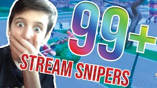 So I had 99 Fortnite stream snipers and this happened... **CRAZY**