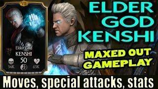 Elder God Kenshi MAXED OUT Gameplay (MKX Mobile 1.11). KENSHI GOES BLOND!!!