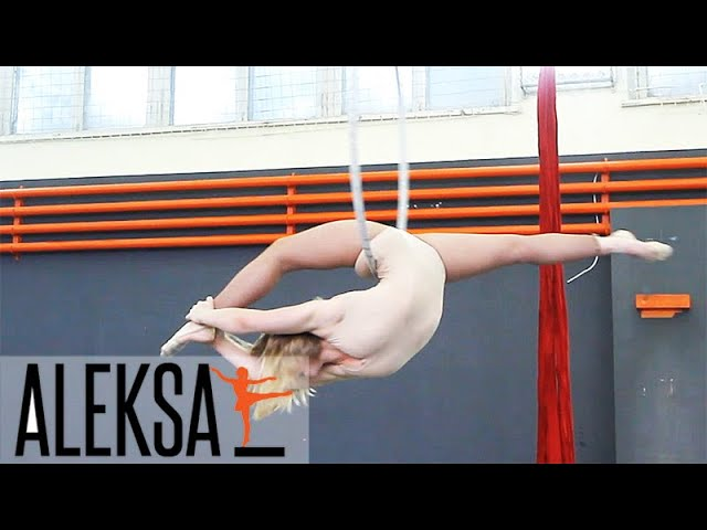 Воздушное кольцо - гимнастика, акробатика. Танец на воздушном кольце. Aleksa Studio - Олеся Шабашова