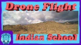 Drone flight at Indian School Road in Albuquerque New Mexico
