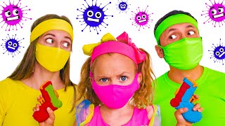 Maya And Story About Microbes | Kids Song By Maya And Mary