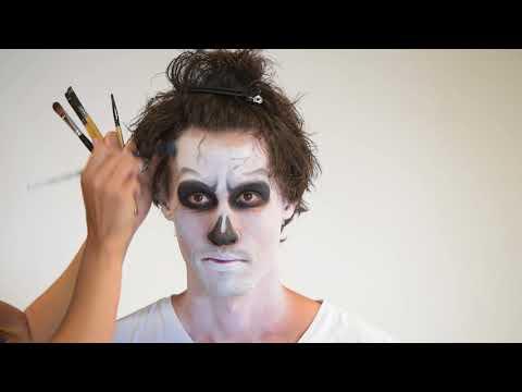 Tutorial für ein Skelett Make-Up