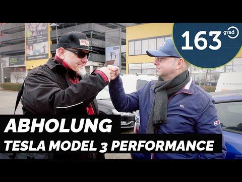 Abholung meines neuen 2021 Tesla Model 3 Performance  | 163 Grad
