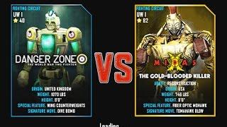 Real Steel WRB FINAL Underworld Danger Zone VS Midas (champion) The Gold BLOODED KILLER NEW UPDATE