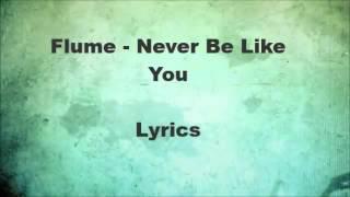 Flume - Never be like you (lyrics on screen)