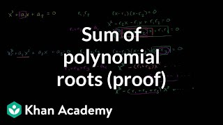 Sum of Polynomial Roots (Proof)