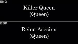 """Video thumbnail of """"Killer Queen (Queen) — Lyrics/Letra en Español e Inglés"""""""