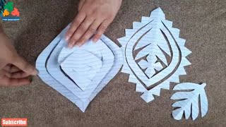 Applic Flower Design Cutting Tutorial Video | How To Applique