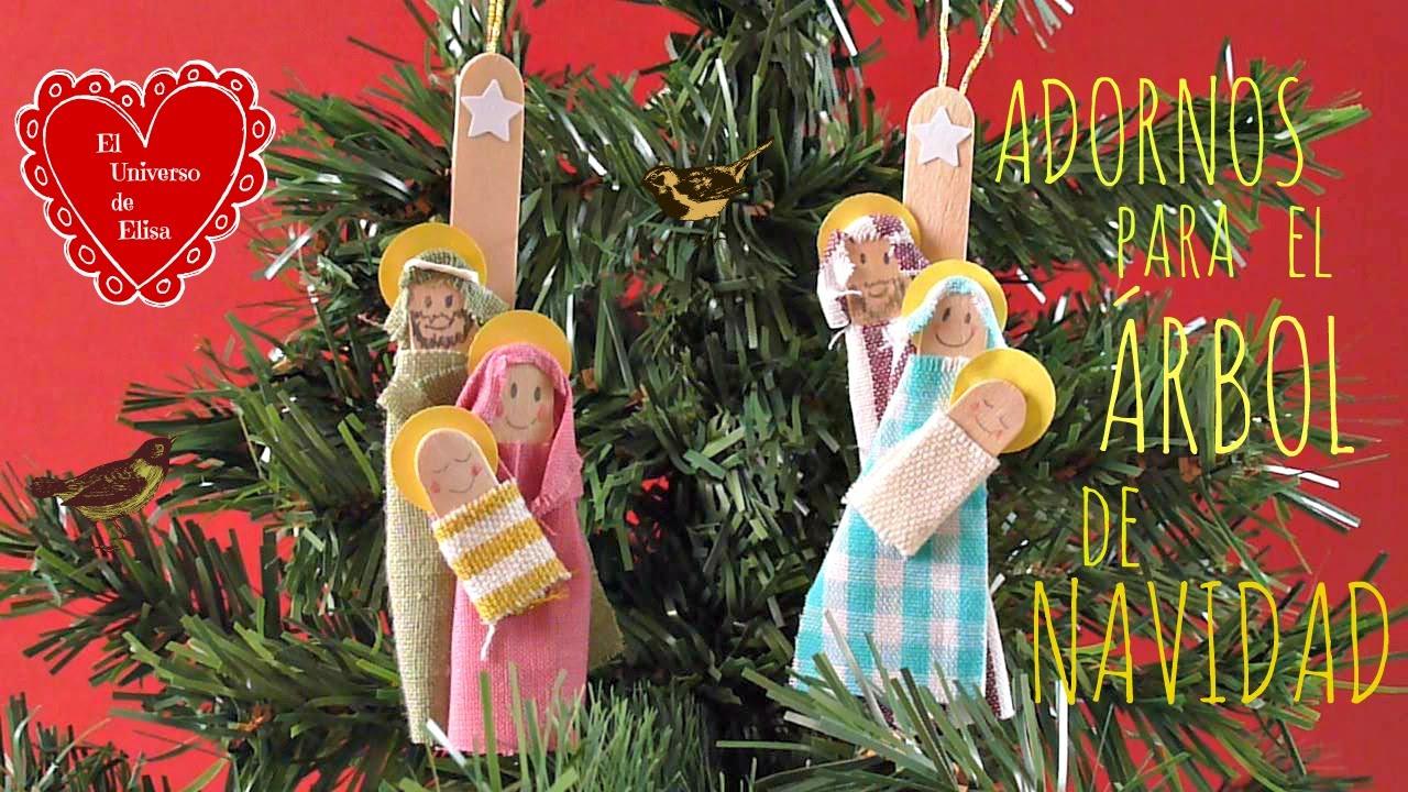 Manualidades para Navidad, Adornos Navideños con Palos de Helado, Cómo hacer una Sagrada Familia,