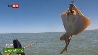 Рыбалка в океане с каяка