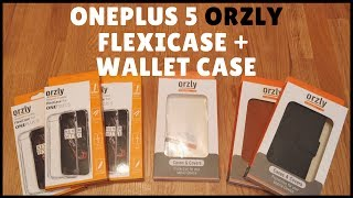 OnePlus 5 Orzly FlexiCase & Wallet Case First Look and Review