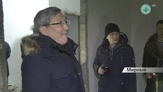Главный долгострой Мирного посетил зампред правительства Якутии Кирилл Бычков