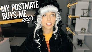 MY POSTMATE BUYS ME WIGS - Video Youtube
