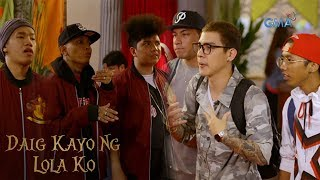 Aired (June 17, 2018): Andrew, Charlie and Jay Z will face off against the popular group, The Bulldogs, in an Ex B battle.  Watch episodes of 'Daig Kayo Ng Lola Ko' every Sunday on GMA Network, starring Ms. Gloria Romero as Lola Goreng, Jillian Ward, Chlaui Malayao, and David Remo. This week's episode features Ex Battalion, Francine Prieto, Pekto, Gino Padilla, Jojit Lorenzo, Carlos Agassi, and Sophie Albert.