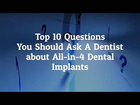 Top 10 Questions to Ask A Dentist about All In Four Dental Implants in San Jose, Costa Rica