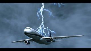 A lightning strike on the plane. Almaty / Удар молнией в самолёт. Алматы.