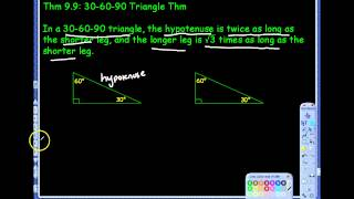 9.4 Special Right Triangles Notes