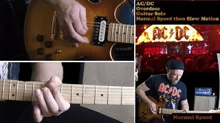 [HD] How to play AC/DC Overdose Solos Normal Speed and Slow Motion