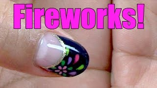 Fireworks Nail Art Design How-to  Japanese Nail Art [English Subs]  花火のテーマ ネールアート