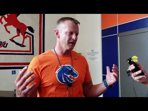 08/23/18 Interview With Boise State head football coach, Bryan Harsin