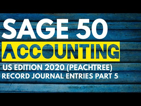 Sage 50 Accounting US Edition 2020 in Urdu/Hindi-Record Journal ...