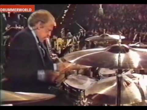 Buddy Rich's incredible drum solo. Halfway through, he gets a heart attack, but continues to play out the solo.