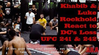 Khabib & Luke Rockhold React to Daniel Cormier's Loss to Stipe Miocic UFC 241