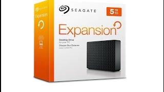 #Unboxing #Benchmark Seagate Expansion, 5TB, externe Desktop Festplatte(STEB5000200) USB 3.0 [HD]