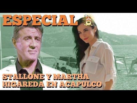 STALLONE Y MARTHA HIGAREDA EN ACAPULCO