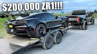 FIRST Time Towing in My New F450!!! Collector Offers Me $200k For My ZR1?!?