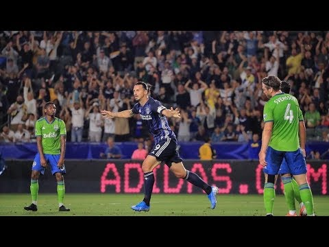 GOAL: Zlatan Ibrahimovic scores beastly header against Seattle Sounders FC
