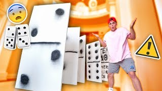 WORLDS BIGGEST GAME OF DOMINOES **INSANE FALLING**