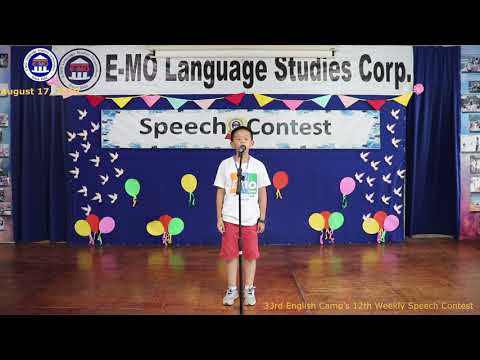 SPEECH CONTEST | DANNY | ENGLISH PROFICIENCY COURSE | AUGUST 16, 2019