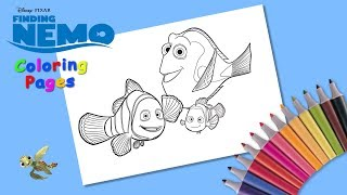 Coloring Dory, Marlin & Nemo. Finding Nemo. #Coloring #forKids. Nemo Coloring Pages.