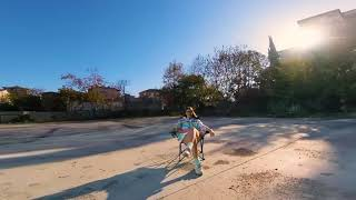 Second WorkOut w/ GoPro Winter Time FPV Trying Power Loops